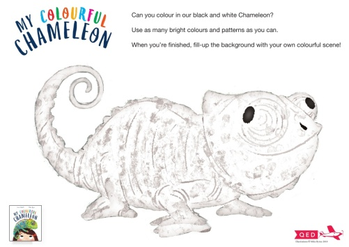 Chameleon colouring sheet